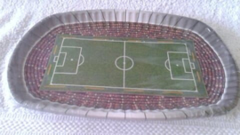 Voetbal papierenborden rechthoekig - 8 stuks