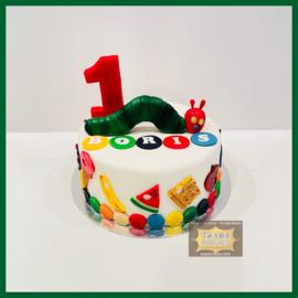 Rupsje nooit genoeg  taart 10 personen