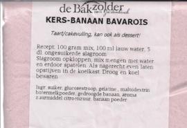 Kers-Banaan bavarois - De Bakzolder - 100 gram