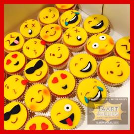 Cupcakes Smiley 6 stuks