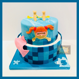 Zwem taart 16 personen