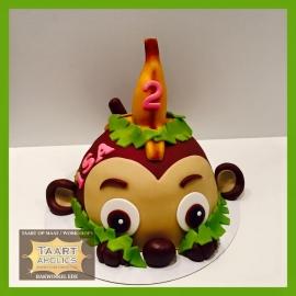 Apen taart 3D voor 16 personen