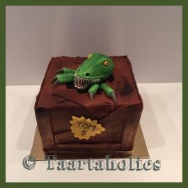 Dino taart 3D voor 16 personen