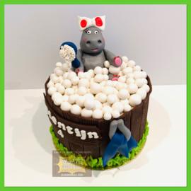 Nijlpaard taart 10 personen