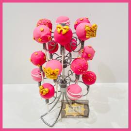 CakePop Pink & gold 18 stuks (STANDAARD TEGEN BORG TE GEBRUIKEN)