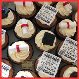 Geslaagd Cupcakes 5 stuks
