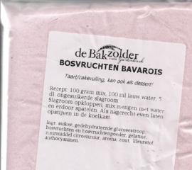 Bosvruchten bavarois - De Bakzolder - 100 gram