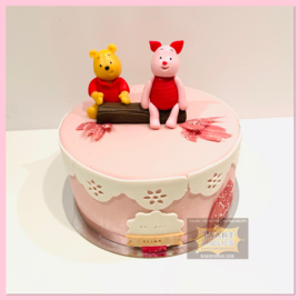 Winnie & Knorretje taart 10 personen