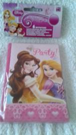 Prinsessenplastic uitnodigingen - 6 stuks