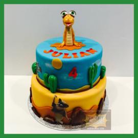 Dieren taart 16 personen
