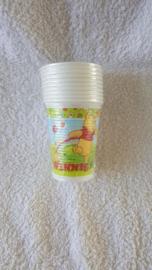 Winnie the Pooh plastic bekers 10 stuks