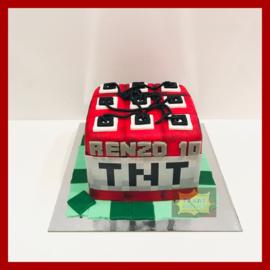 TNT Minecraft taart 12 personen