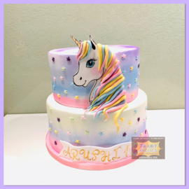 Eenhoorn/ unicorn taart 16 personen