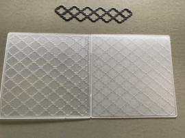 Marianne Design Behangmotief (2 verschillende afmetingen) - Reliëf / Embossing