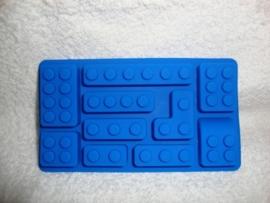 Bouwstenen siliconen mal - mould - 10 verschillende steentjes