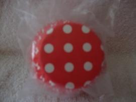 Cupcake vormpjes Polkadot rood 40 stuks