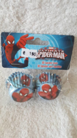 Spiderman Mini Cupcake vormpjes 60 stuks
