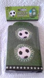 Voetbal papieren feestzakjes - 4 stuks