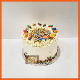 Confetti taart 6 personen