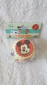 Disney Mickey Mouse Cupcake vormpjes - 60 stuks