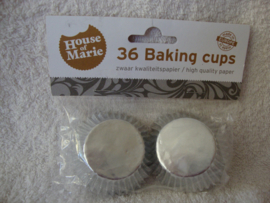 Mini Cupcake vormpjes Zilver 36 stuks House of Marie