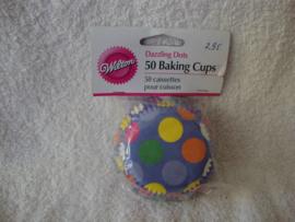 Cupcake vormpjes Dazzling Dots 50 stuks Wilton - 415-582