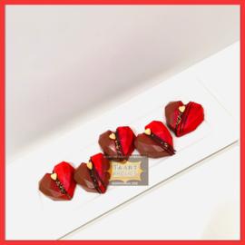 Hart onder de riem/ Valentijn chocolade melk