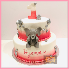 Olifantje taart 16 personen