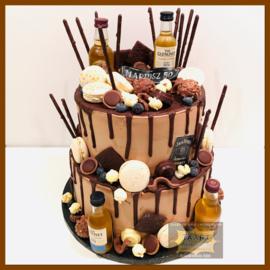 Chocolade Driptaart 16 personen (ZONDER FLESJES)