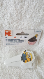 Minions cupcake toppers 24 stuks, 4 designs