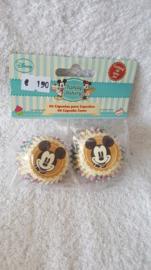 Disney Mickey Mouse Mini Cupcake vormpjes 60 stuks