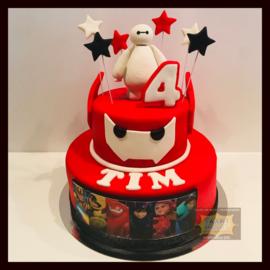 Big Hero taart 16 personen