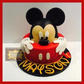 Mickey taart 16 personen