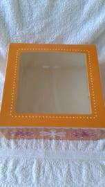 Taartdoos met venster van Funcakes - 26x26x12 cm