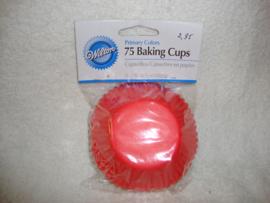 Cupcake vormpjes Rood Geel Blauw 75 stuks Wilton - 415-987