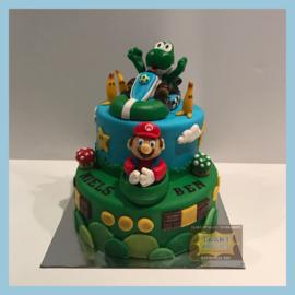 Mario taart 16 personen