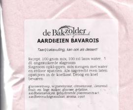 Aardbeien bavarois - De Bakzolder - 100 gram
