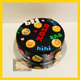 Emoji taart 10 personen