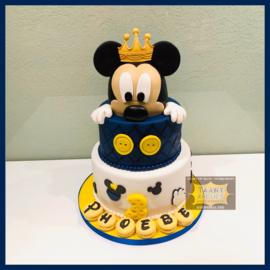 Mickey taart 24 personen 3 lagen
