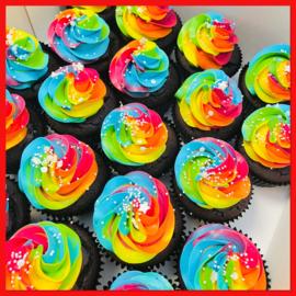 Cupcakes NEON 12 stuks