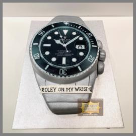 Horloge 3D taart  voor 16 personen