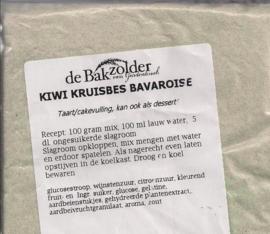 Kiwi kruisbes bavarois - De Bakzolder - 100 gram