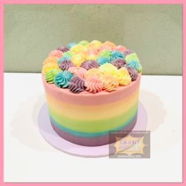 Smash Cake Regenboog taart