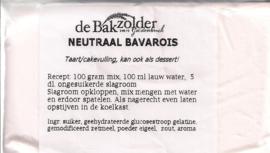 Neutraal bavarois - De Bakzolder - 100 gram