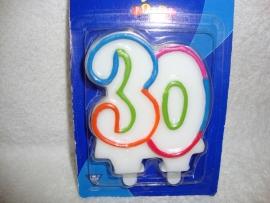 Kaarsje - Cijfer 30 PartyTime