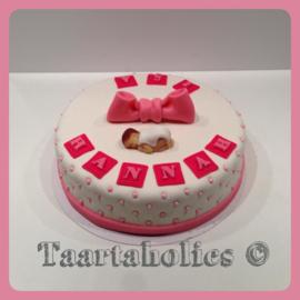 Geboorte taart 10 personen