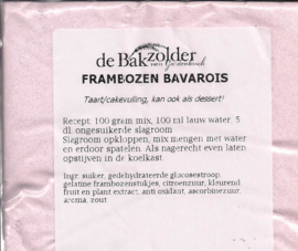 Frambozen bavarois - De Bakzolder - 100 gram
