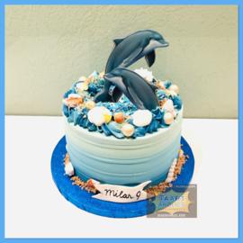 Dolfijn Taart 10 personen
