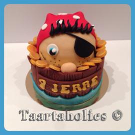 Piraten taart 16 personen