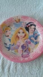 Prinsessen papieren borden - 8 stuks